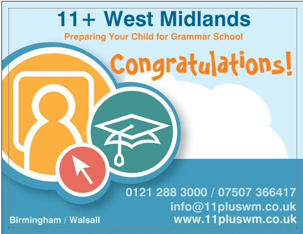 11+ West Midlands New Centres