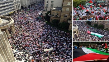 Thousands march in London for Gaza