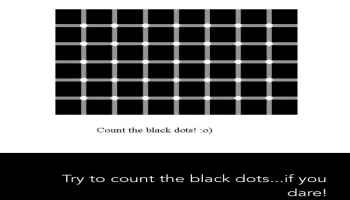 Illusion:Try to count the black dots .... if you dare!