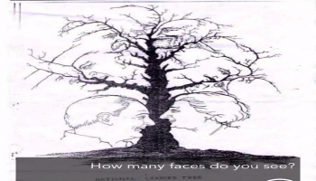 Illusion:How many faces do you see?