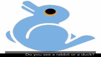 Illusion:Do you see a rabbit or a duck?