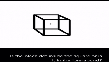 Illusion:Is the black dot inside the square or is it in the foreground?