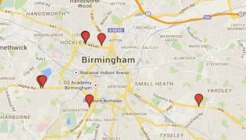 Locations of Birminghams New Speed Cameras